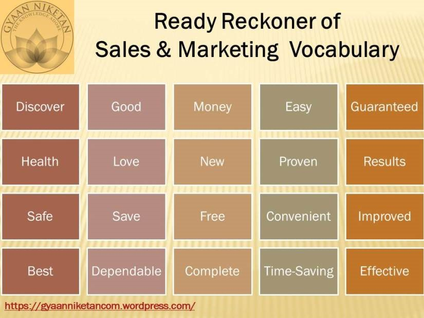 Basic Vocabulary for Sales and Marketing